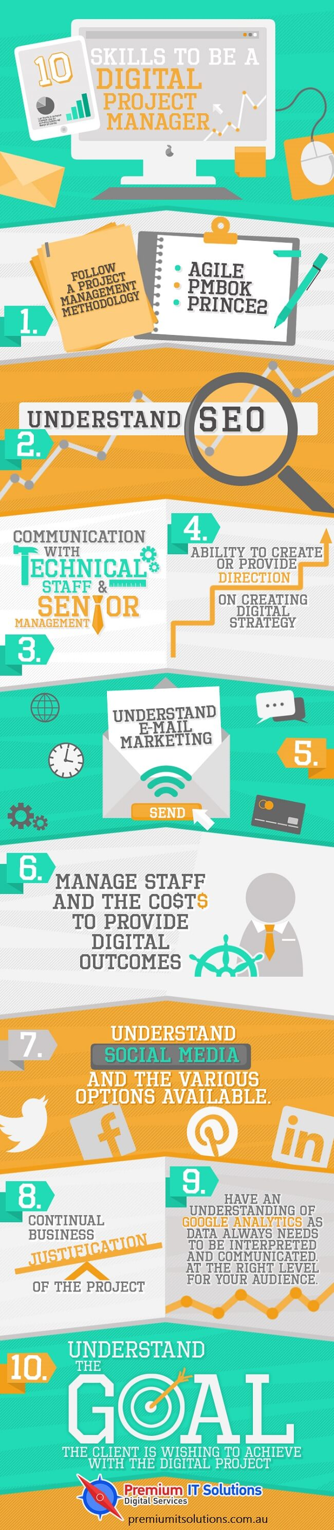 digital project manager infographic top 10 skills